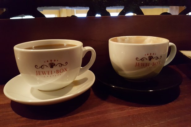 Jewel Box Cafe Coffee Mugs